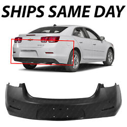 New Primered - Rear Bumper Cover Replacement For 2013 Chevy Malibu W/ Park And Cam