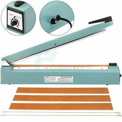 20 Inch Hand Impulse Sealer Heat Seal Machine Poly Bag Food Packing Film Sealing
