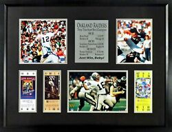 Oakland Raiders Just Win, Baby Super Bowl Tickets Framed Display