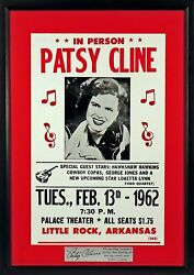 Patsy Cline W/ George Jones Loretta Lynn And More Concert Framed Poster Engraved