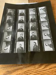 Male Model B And W Contact Sheet Proofs And Negatives 1964 Photos Jerry Duchin Ny