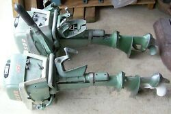 Vintage Johnson Seahorse Outboard Motor 5 1/2 H.p. 2 Outboards Non Running