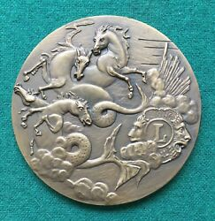 Beautiful Antique And Rare Bronze Medal Of Lions Clubs International 1986