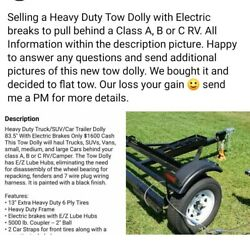 Tow Dolly With Electric Brakesbrand New