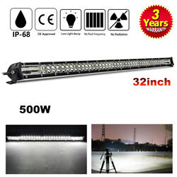 30/32inch Led Light Bar Dual-row Combo Work Driving Fog Ute Truck Suv 4wd Boat