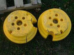 John Deere Lawn And Garden Tractor Wheel Weights Part 22723 Tag 601
