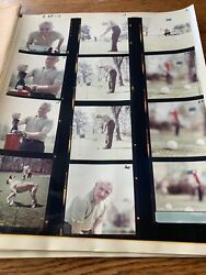 Male Model Color Contact Sheet Proofs And Negatives 1962 Photos Golf Course Ny