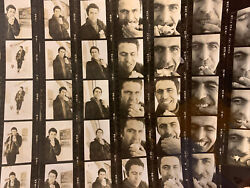 Male Model B And W Contact Sheet Proofs And Negatives 1960's New York Apple Farm