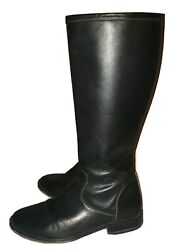 Women's Designer Cole Haan Tall Knee Riding Boots Black Leather Vintage 10 Euc