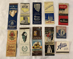 Vintage New York City Hotel Matchcover Lot 11 Times Square Front Strike 1940s
