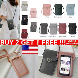 Cross body Touch Screen Cell Phone Wallet Shoulder Bags Leather Pouch Case US $6.76