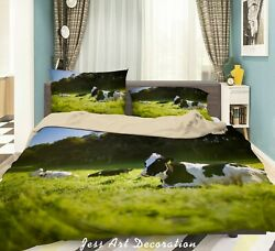 3d Cows Forest Ranch Quilt Cover Sets Pillowcases Duvet Comforter Cover