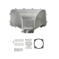 Holley Intake Manifold Top 300-282 105mm Throttle Body Fabricated Aluminum