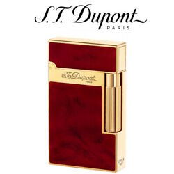 New S.t. Dupont - Ligne 2 Line 2 Soft Flame Lighter - Atelier Brown And Gold St