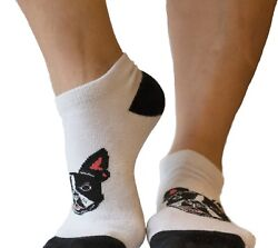 Radley#x27;s Sock Awesome Boston Terrier Socks Women size 6 10 Men size 5 9.5