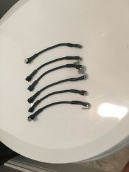 6 Qty -14 Awg Marine Black Tin Copper Wire Jumpers For Switch Panels. For 6 G...