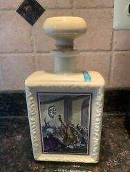 Vintage J.w. Dantandrsquos Americana Great Moments In History Bourbon Bottle 9.5andrdquo Tall