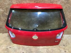 2007 Volkswagen Rabbit Coupe Rear Trunk Tailgate Liftgate Red W/ Glass Oem+