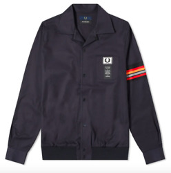 Bnwot Fred Perry X Art Comes First Taped Sleeve Lightweight Jacket Rrp Andpound195.00