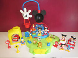 Rare Mickey Mouse Clubhouse Playset W Figures And 3 Cars