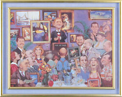 Charles Bragg - Art Auction Lithograph On Canvas Signed Circa 1998