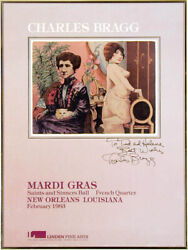 Charles Bragg - Mardi Gras Annotated Poster Signed Circa 1983