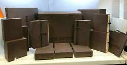 Set Of 15 Louis Vuitton Bag And Boxes