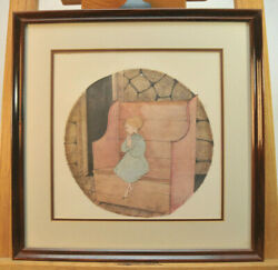 P Buckley Moss Framed Limited Edition Print Please God 1987 Rare 366 Of 1000