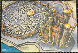 Game Of Thrones 2-card Puzzle Sketch Card Warren Martineck Map - Kingand039s Landing