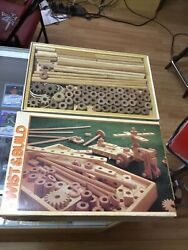 Vintage 1983 Discovery Toys Twist And Build Wooden Construction Sealed Parts