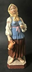Rare Antique Imperial Russian Gardner Porcelain Figurine A Girl With A Jugandrdquo