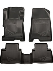 Husky Liners Floor Liner Weatherbeater Front And 2nd Row Plastic Black Andhellip 98401