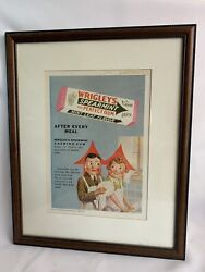 Wrigley's Spearmint The Perfect Gum Ad W/ Frame From April 1930