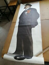 Oriinal Soviet Russian Poster Of Lenin Big Size Painted By V. Ivanov 1968 Year