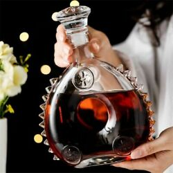 Retro Red Wine Bottle Champagne Glass Whiskey Decanter Water Jug Cocktail Pourer