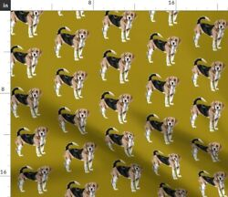 Beagle Snoopy Dog Dogs Puppy Puppies Spoonflower Fabric by the Yard