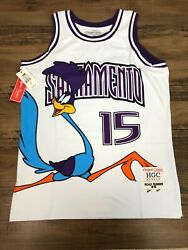 Sacramento Road Runner White Basketball Jersey Authentic By Headgear Classics