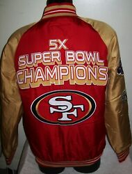 San Francisco 49ers 5 Time Super Bowl Champions Polyester Jacket  2020