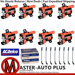 Racing Ignition Coil Wireset And Acdelco Double Platinum Spark Plug For Gmc Sierra