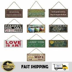 Funny Vintage Retro Metal Tin Signs Kitchen Rules Wall Motor Garden Pub Posters