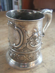 Stunning Antique English Early Georgian Solid Silver Tankard 16 Ounces