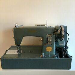 Vintage Brother Sewing Machine Meteor Window-matic Ha3-b5 With Case Foot Pedal