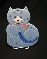 Otagiri Cat Japan Blue Cat Trivet Handcrafted