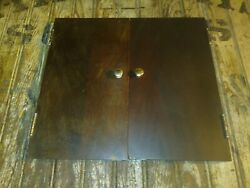 Cecilian Phonograph Doors With Pulls And Hinges. 14 13/16 X 8 1/4