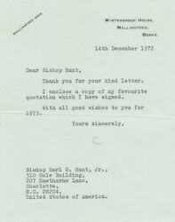Agatha Christie - Typed Letter Signed 12/14/1972