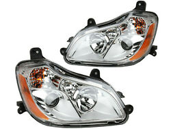 For 2013 - 2020 T680 Headlamp Projector Chrome Pair Passenger Right Driver Left