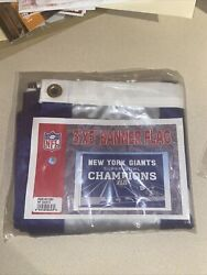 Super Bowl Xlii 42 Championship Deluxe Flag 3'x5' New York Giants New