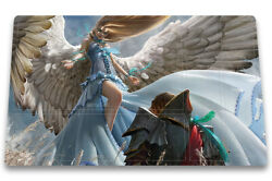 Restoration Angel - Board Game Mtg Duel Playmat With Card Zones Play Mat Freebag