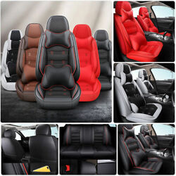Us 5-seats Waterproof Car Seat Cover Full Set Protector Truck Cushion Front Rear