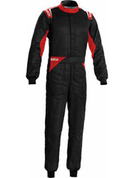 Sparco Sprint Driving Suit Dual Layer Cotton Black Red Medium 00109252nrrs